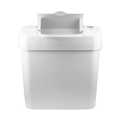 Automatic Sanitary Bin 15L white front open 72006W CD-7002A