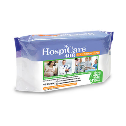 Hospicare 40R Adult Body Wipes
