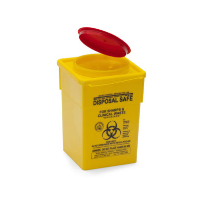 Sharps Disposal 2L Plastic Container angle
