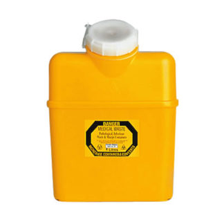 Sharps Container 8 Litre Non-Spill Screw Top Lid Front