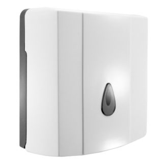luxe jumbo toilet roll dispenser angle
