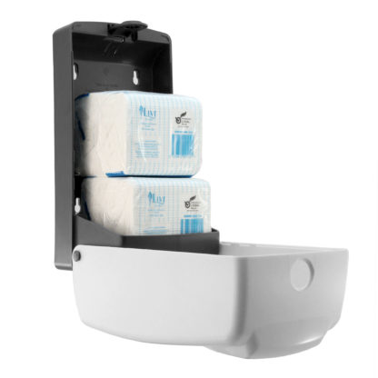 Luxe Dual toilet tissue dispenser LX-880771A angle open