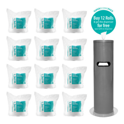 antibacterial gym wipes package
