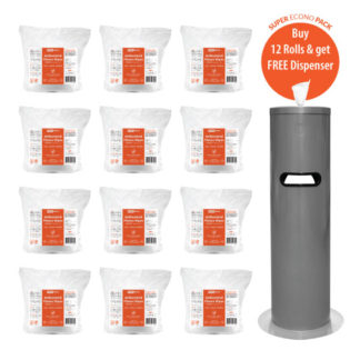 extra antibacterial fitness wipe 12 pack dispenser