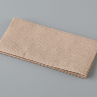 Quilted Brown Recycled Paper Dinner Napkin