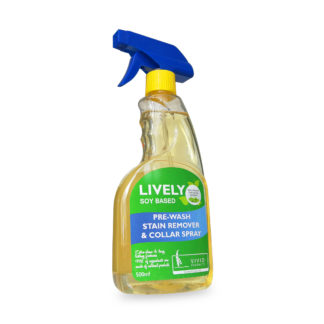 Lively soy based pre-wash stain remover spray 500ml