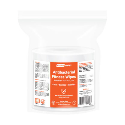 extra antibacterial fitness wipes 900 sheets pack