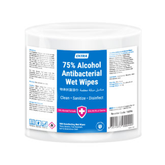 extra antibacterial 75% alcohol surface roll wipes 900 sheets pack