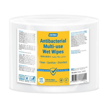 extra antibacterial multi use roll wipes 1200 sheets pack