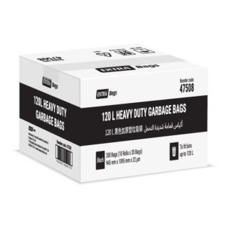 Extra Bags 120L Heavy Duty Garbage Bags box closed