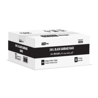 Extra Bags 240L Black Garbage Bags box closed