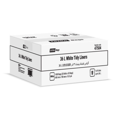Extra Bags 36L Black Tidy Liners box closed 47504