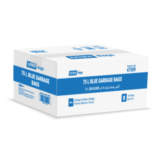 Extra Bags 75L Blue Garbage Bags box closed