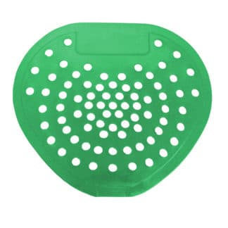 Green Vinyl Urinal Disinfecting Screen, Apple Fragrance