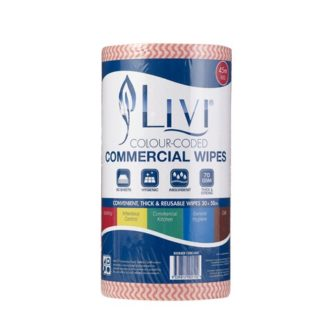 livi commercial disposable wipes 90s red 6005