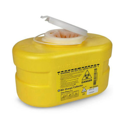 Sharps Disposal 3L Plastic Container angle
